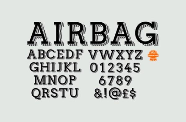 Free font: Airbag