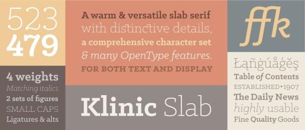 Free font: Klinic