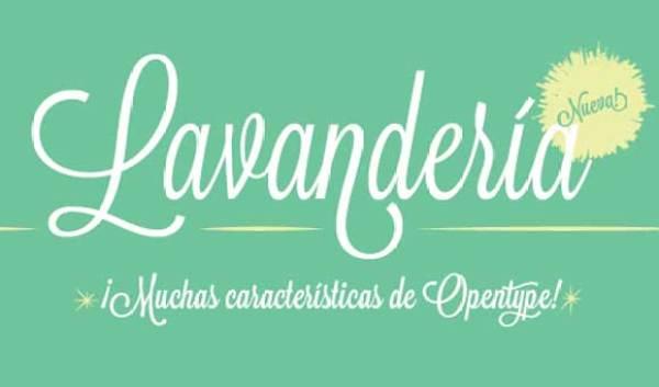 Free font: Lavanderia