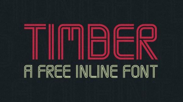 Free font: Timber