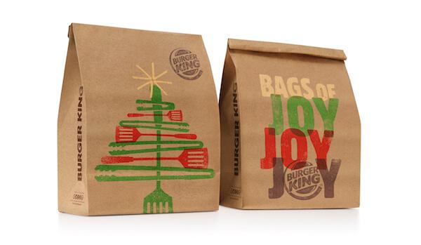 Burger King Illustrated Christmas Packaging