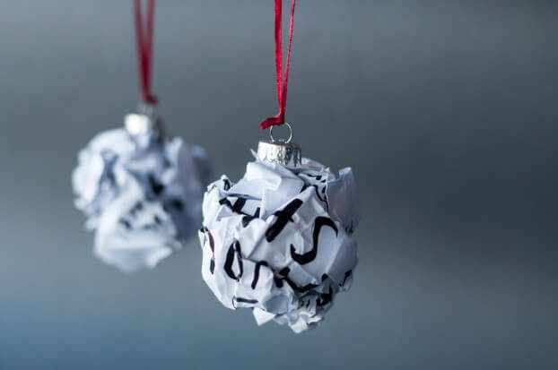 Bad ideas turned into Christmas baubles