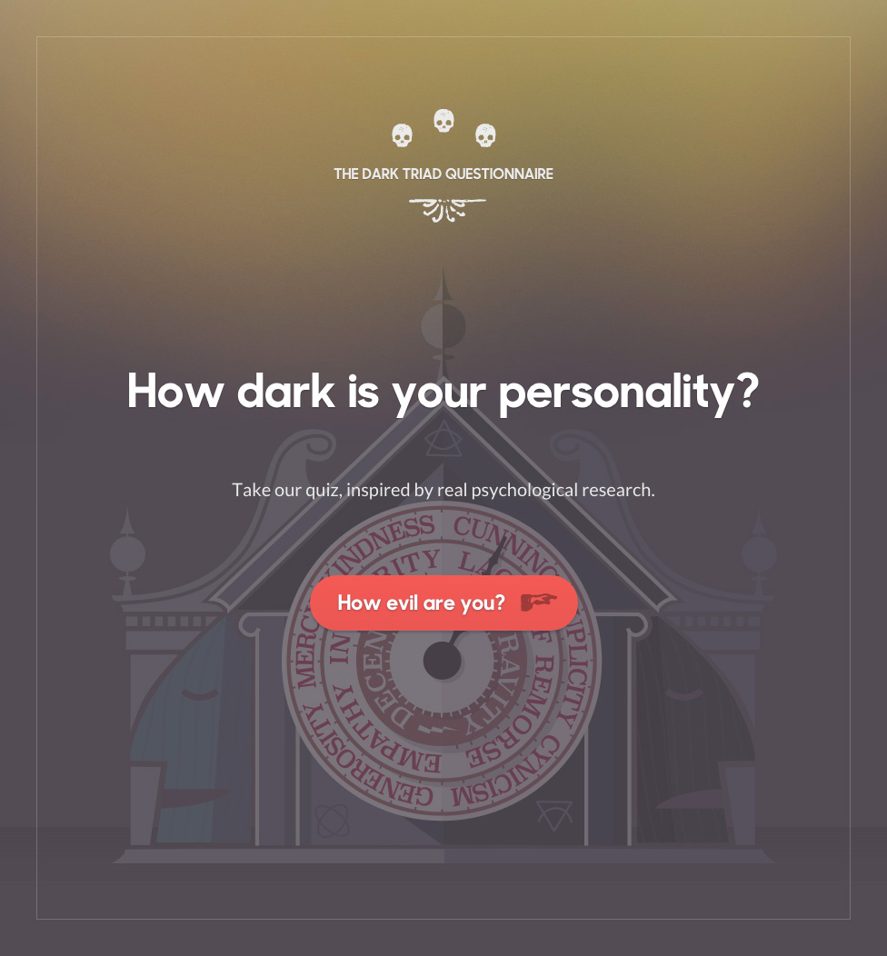 How dark is your personality