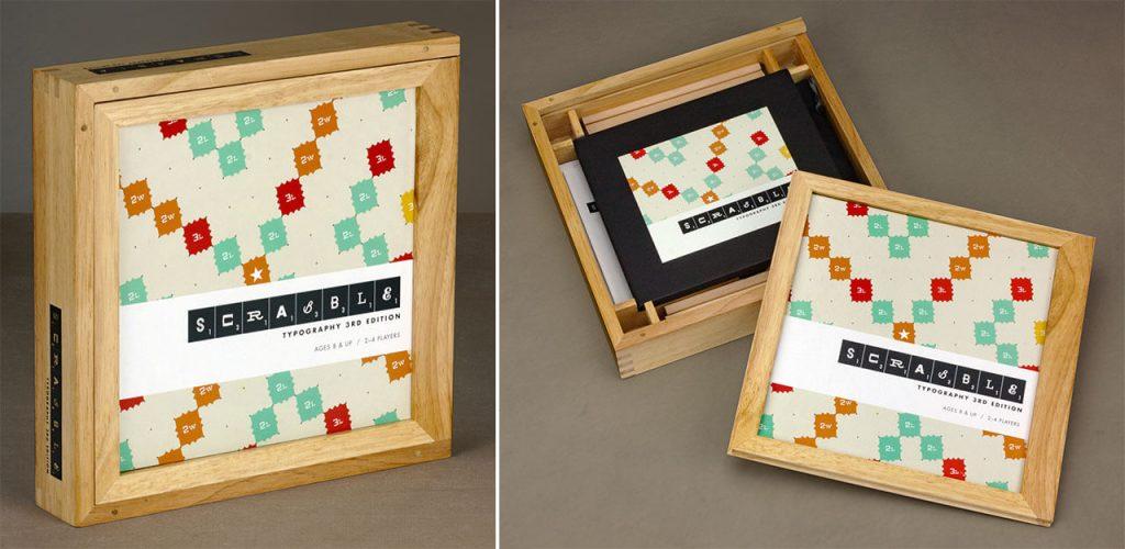 Scrabble Typography board