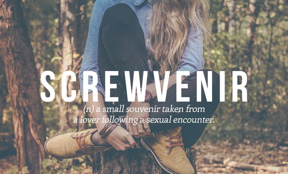 Highly sexual words: Screwvenir