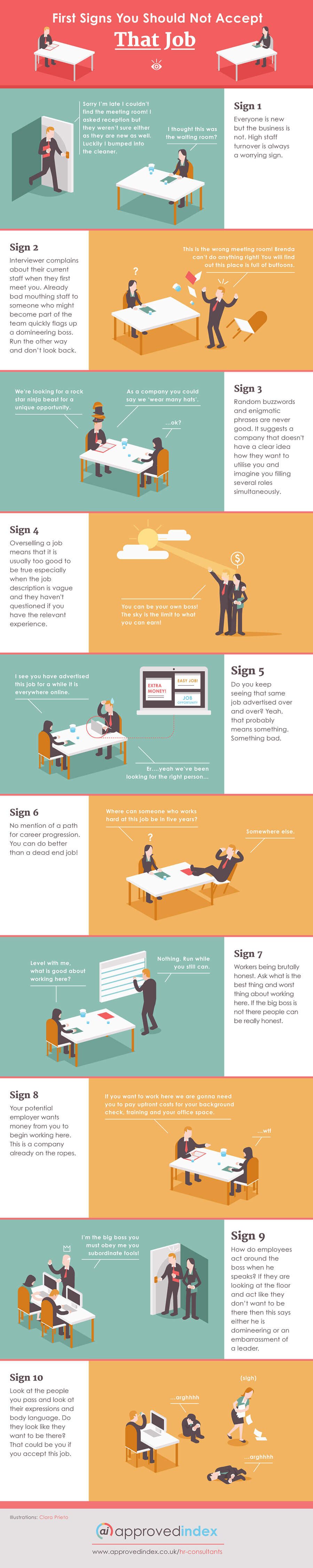 Infographic: First signs you should not accept that job