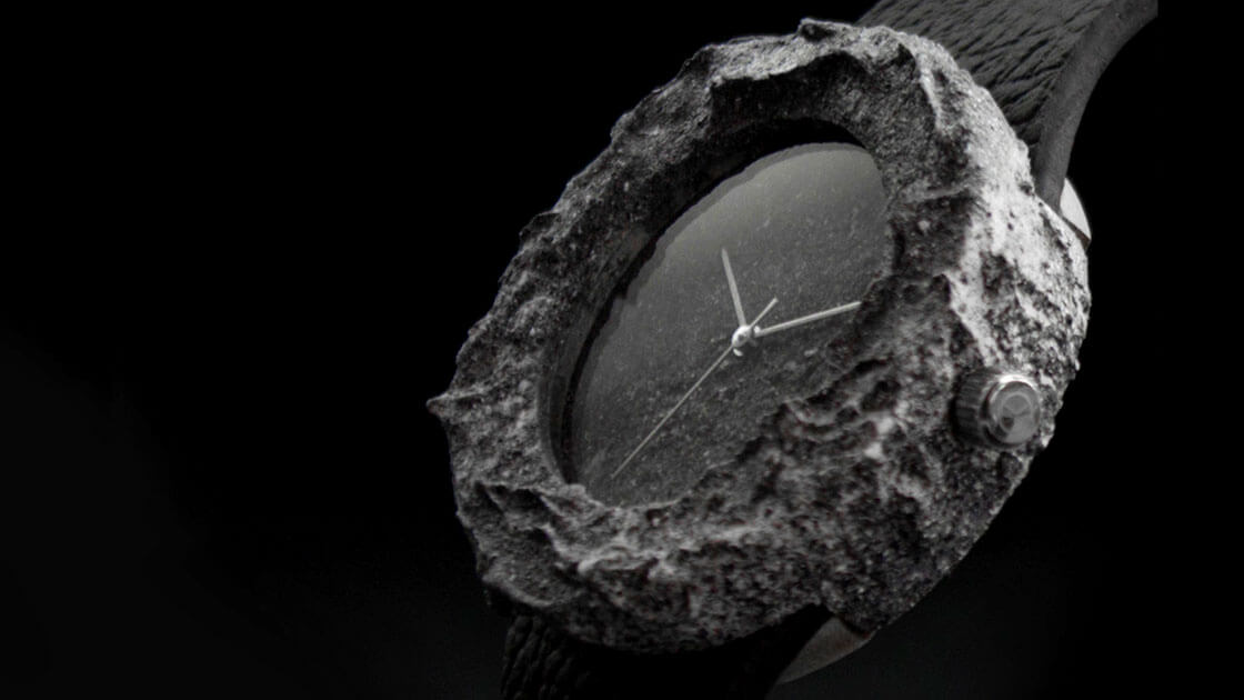 World's first timepiece made from real moon rock