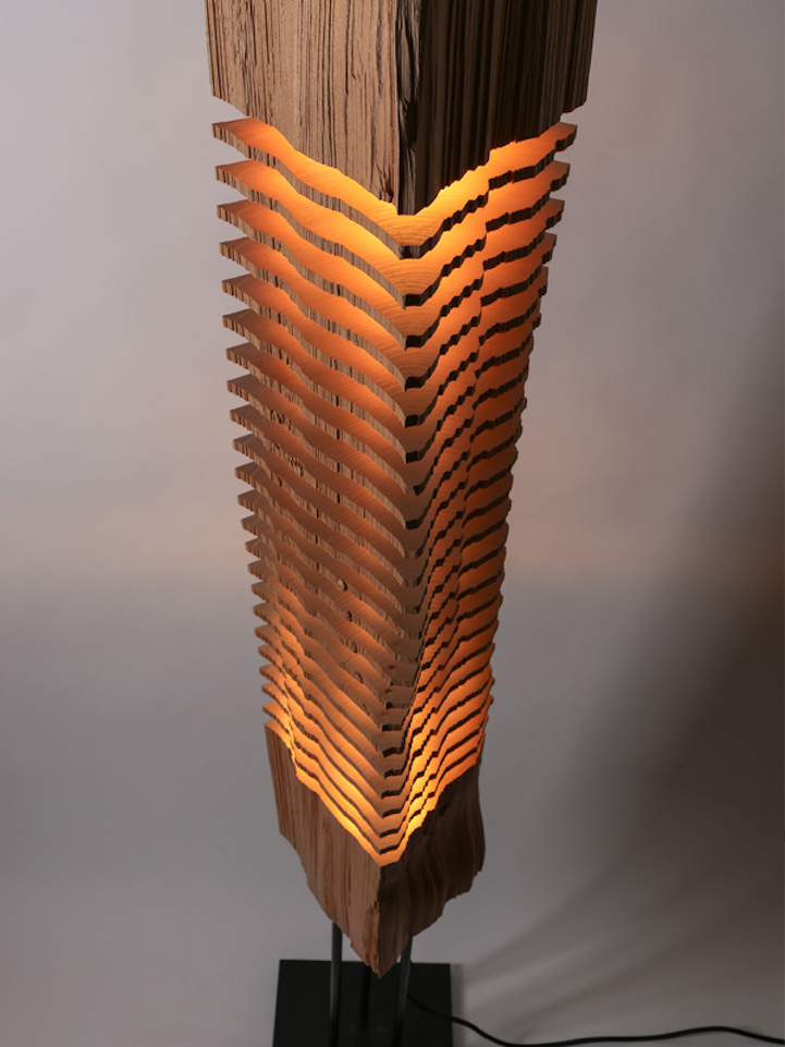Sliced lamps made from real firewood | Daniel Swanick