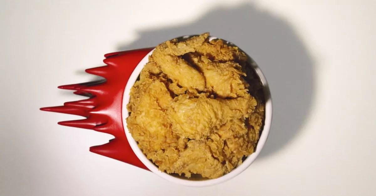 The speedy packaging design of KFC Thailand