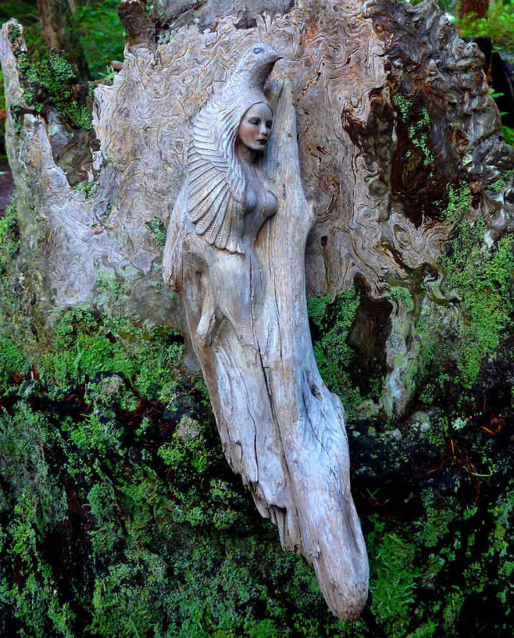 Driftwood sculpture by Debra Bernier