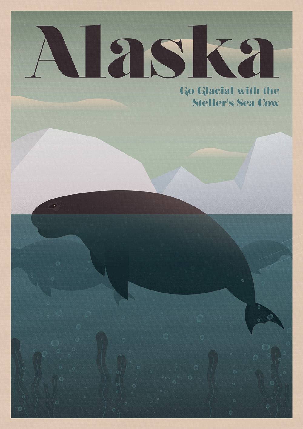 Steller's Sea Cow Visitors to Alaska can see amazing wildlife, including grizzly bears, whales, and caribou, but not the Steller's Sea Cow, which was hunted to extinction by 1768.