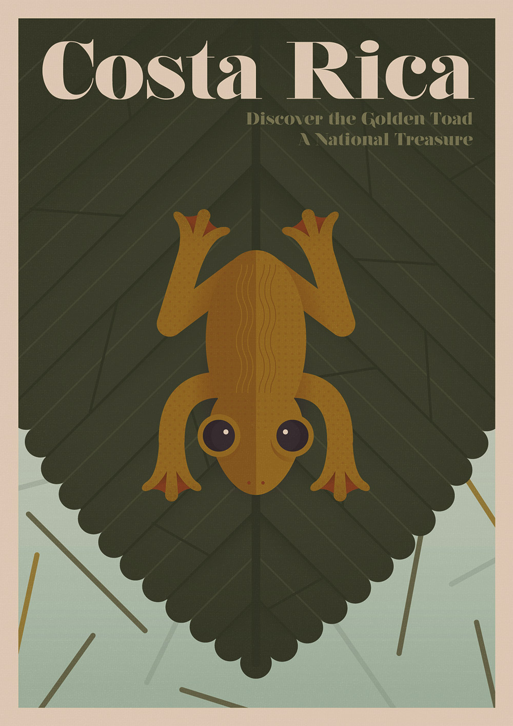 Golden Toad The Golden Toad went extinct in 1989. It only had a minute habitat in Costa Rica's Reserva Biológica Monteverde.
