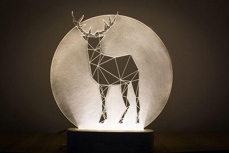 Full Moon Deer Lamp