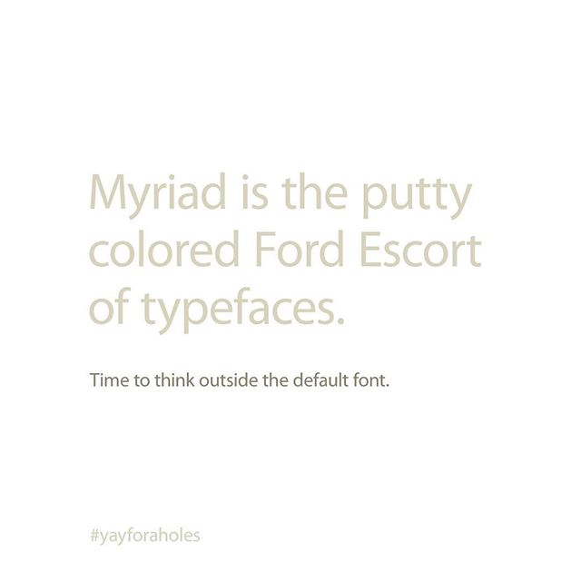 Instagram account pokes fun at fonts and typefaces | Daniel