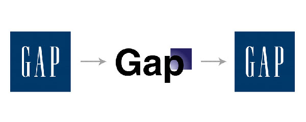 Gap logo redesign lasted a day