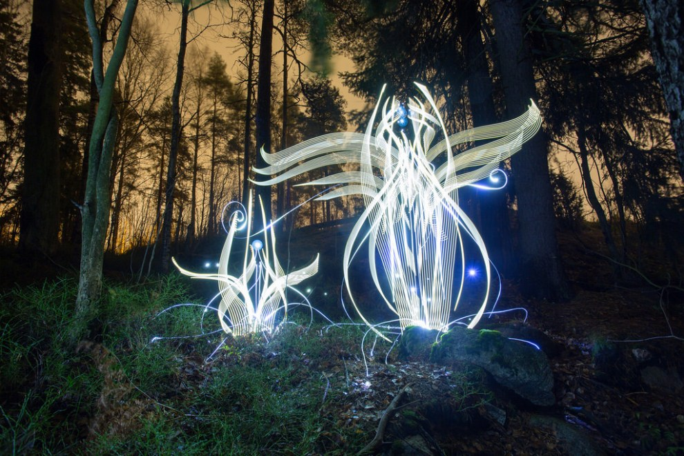 Art created from light and long exposure photography