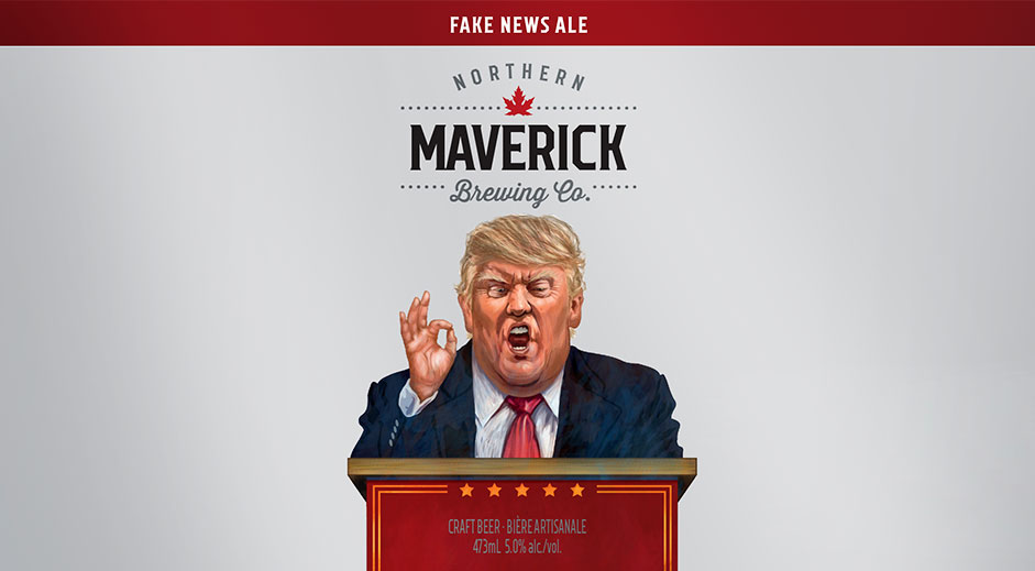 Brewery reveals cynical Fake News Ale directed at Trump