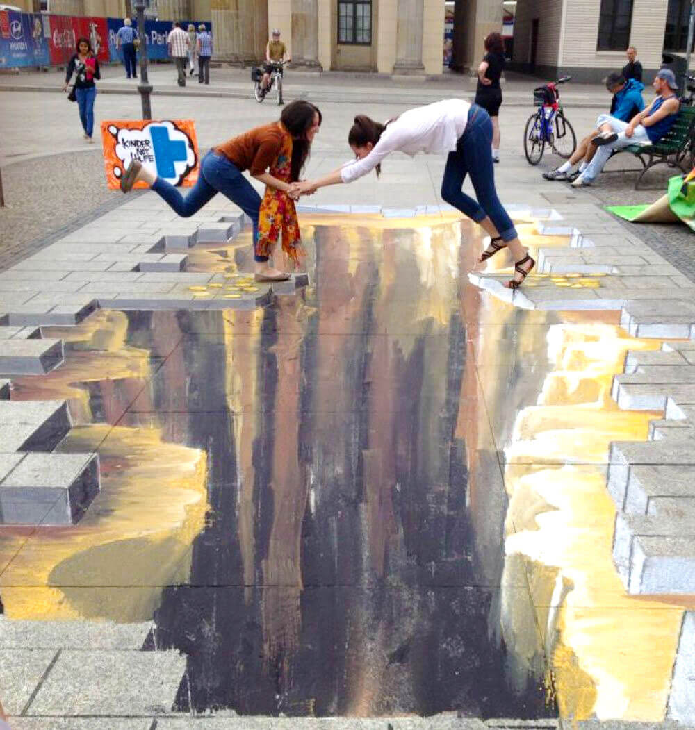 Street art that blurs the border between reality & fantasy