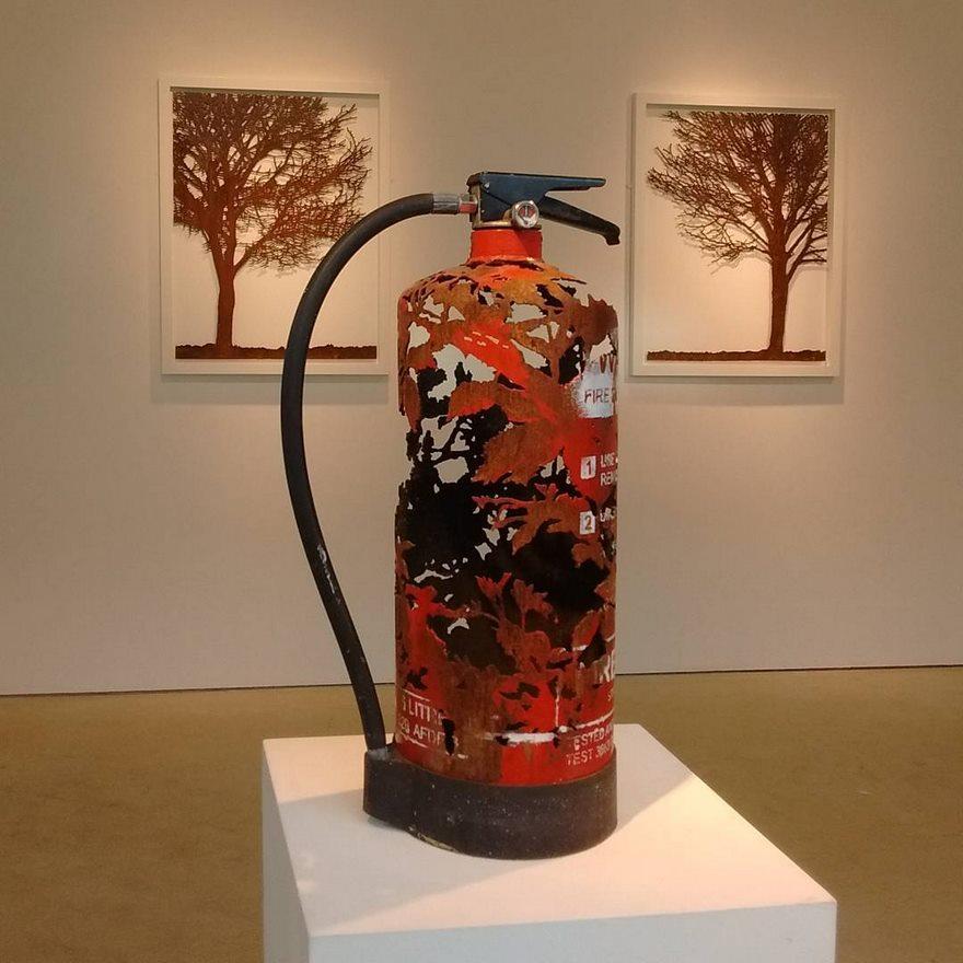 Artist turns scrap metal into nature art