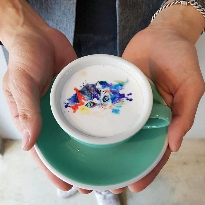 Korean barista turns coffee into incredible Cremart
