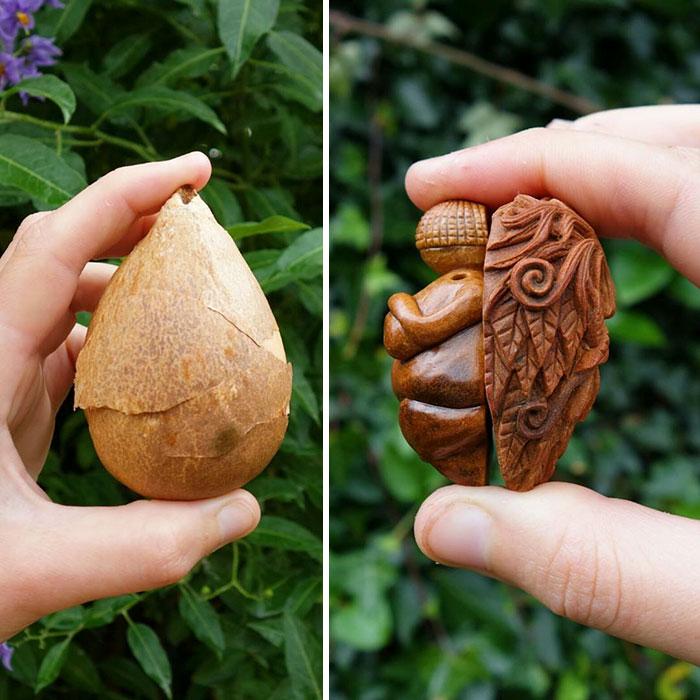 Irish artist crafts intricate sculptures from avocado pits