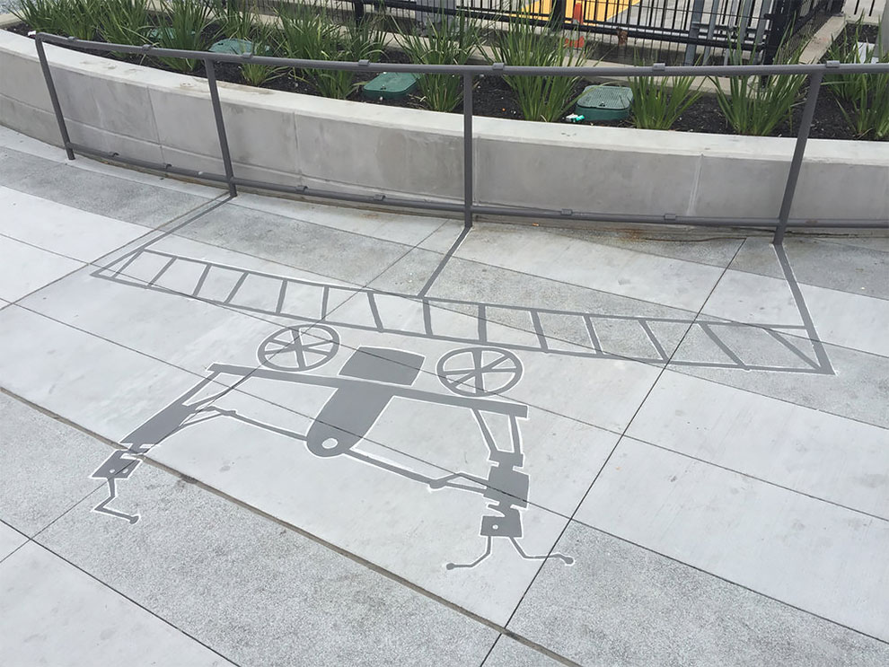 Artist paints fake shadows to make people look twice