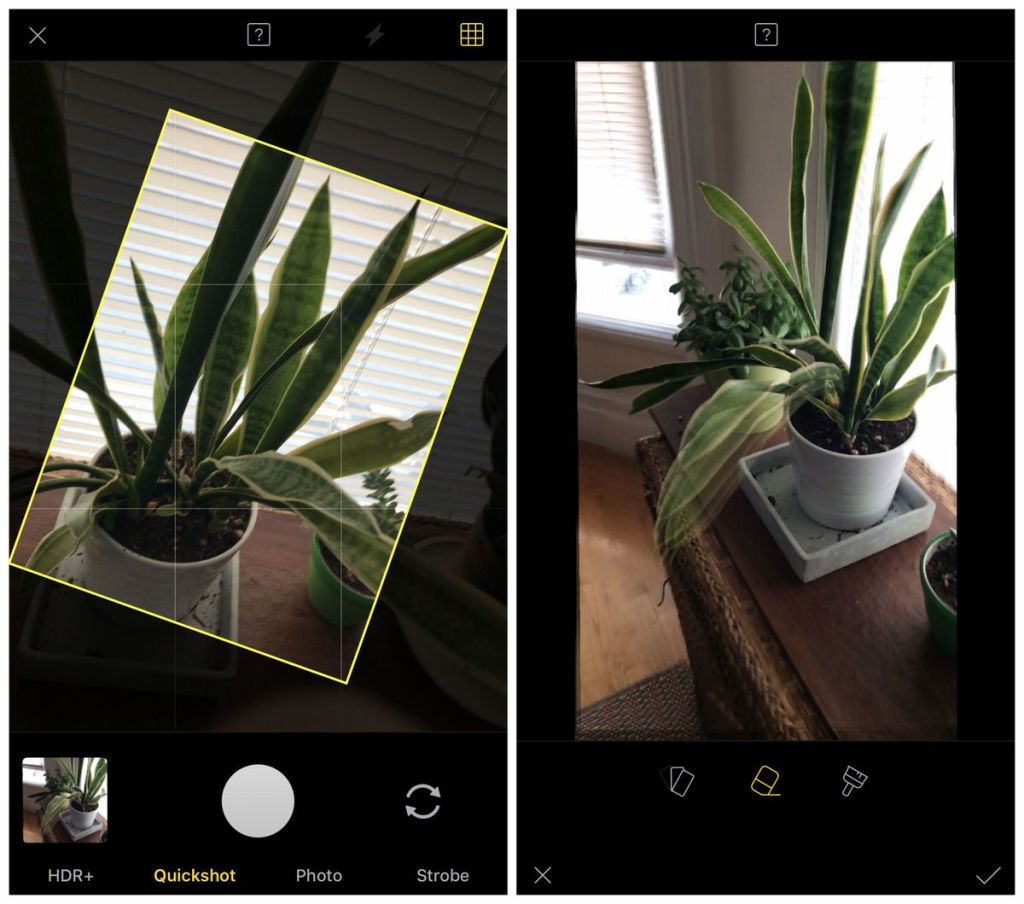 Quickshot photo app uses AI to auto crop and rotate