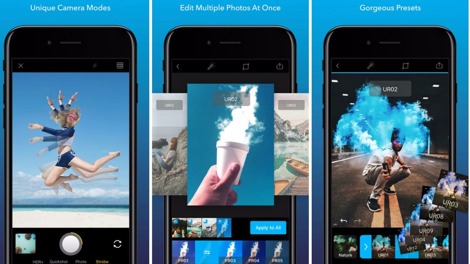 Quickshot photo app batch photo editiing