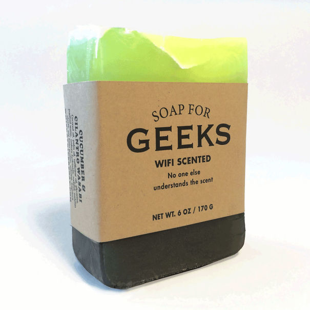 Company makes humorous soaps for geeks