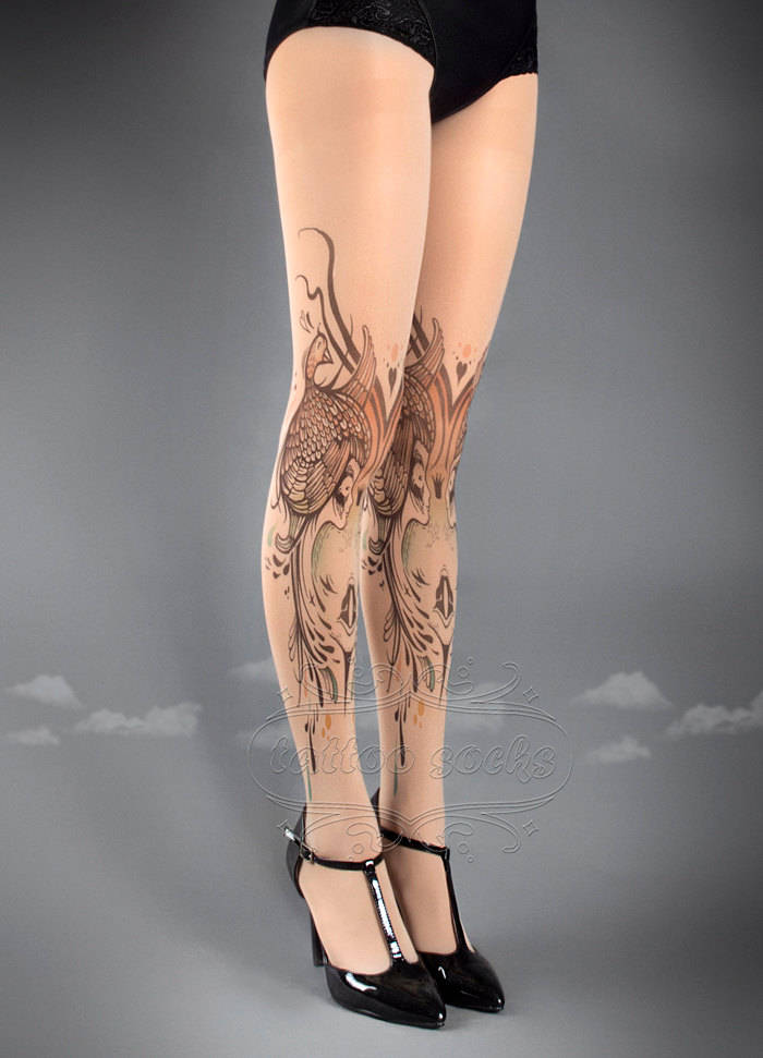 Birds and Ladies Tattoo Socks