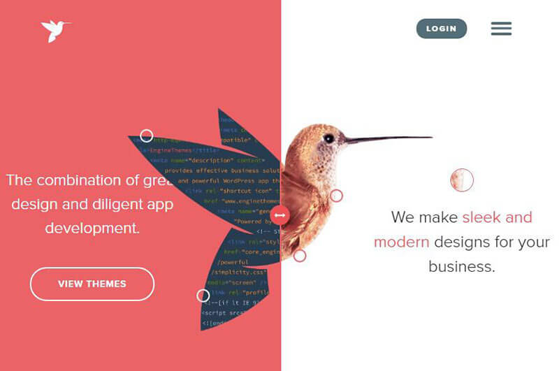 What to expect with graphic design for 2018: Split page design