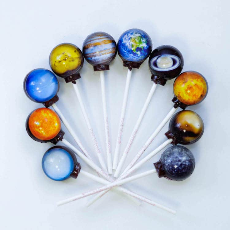 Planetary Lollipops: A sweet way to enjoy the universe