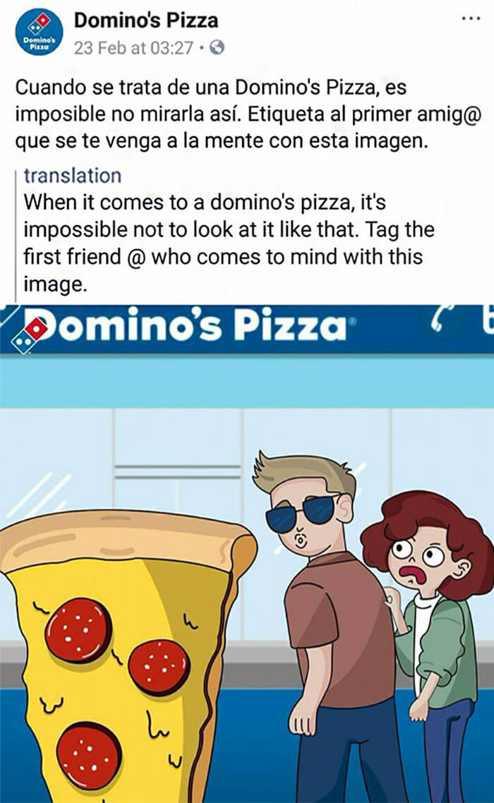 Domino's Pizza plagiarism post