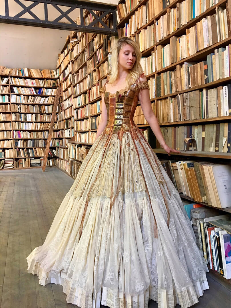 Handcrafted fairytale dresses designed by Sylvie Facon