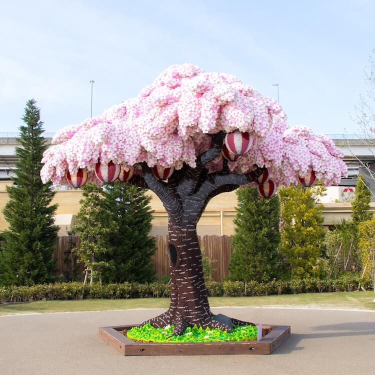Cherry blossom tree made from over 800,000 LEGO bricks