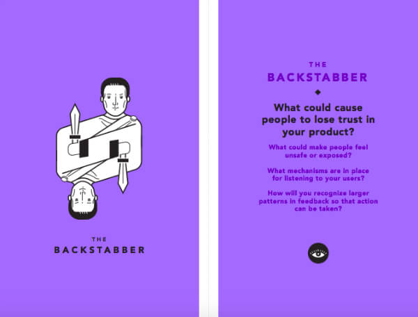 Tarot Cards of Tech: The Backstabber