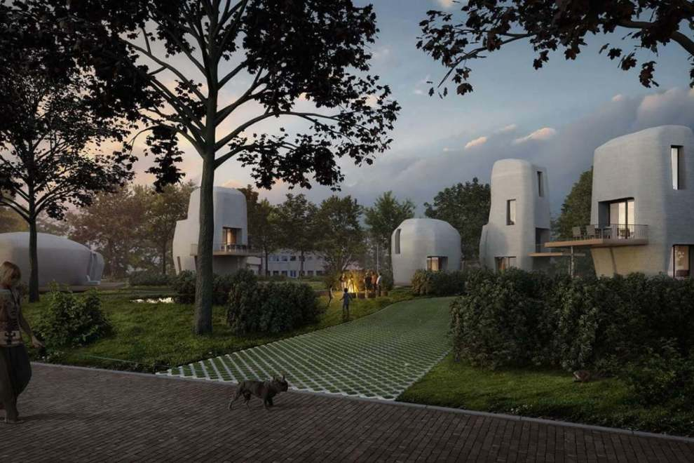 World's first 3D-printed concrete houses are coming to the Netherlands