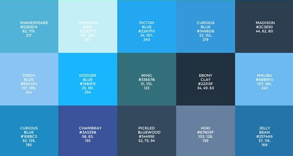 Blue, the most popular colour on the internet