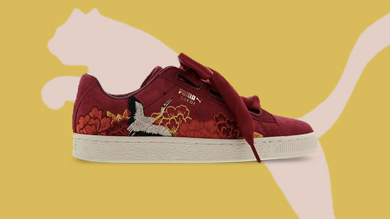Puma's Japanese-style embroidered sneakers pay homage to the Kimono