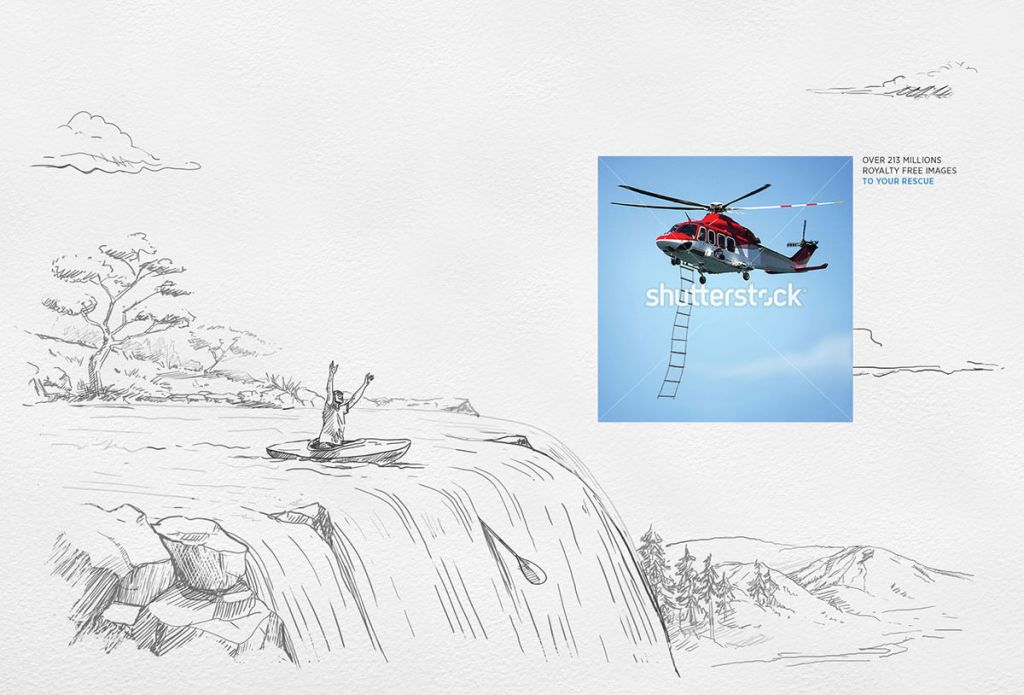 Waterfall: Shutterstock comes to the rescue