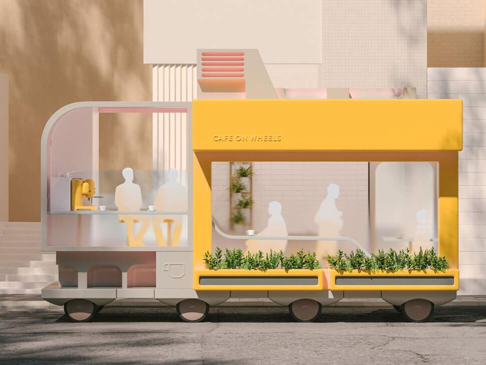 IKEA self-driving cars: Café on Wheels