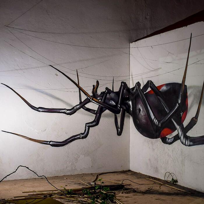 Discover surreal 3D graffiti by Sergio Odeith