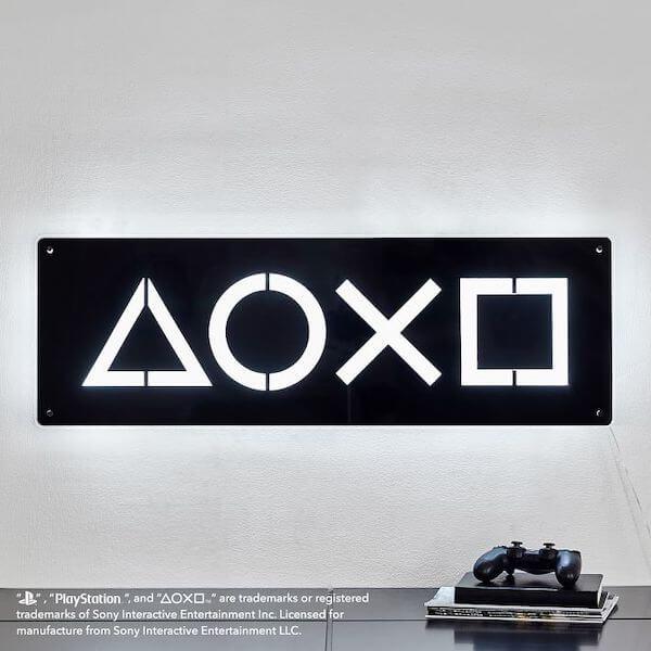 Sony PlayStation furniture: Neon light