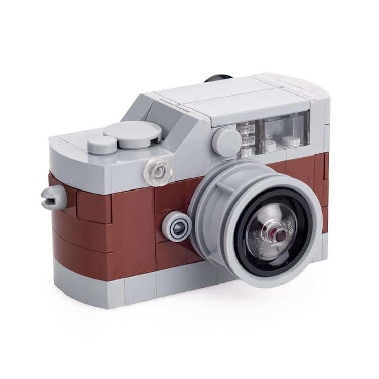 Leica M camera LEGO kits: Brown/Grey
