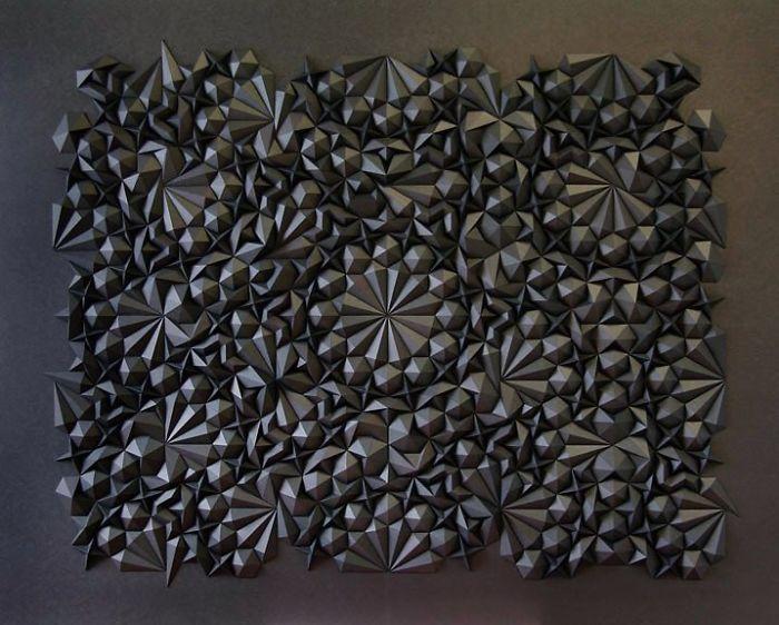 Matthew Shlian geometric paper art