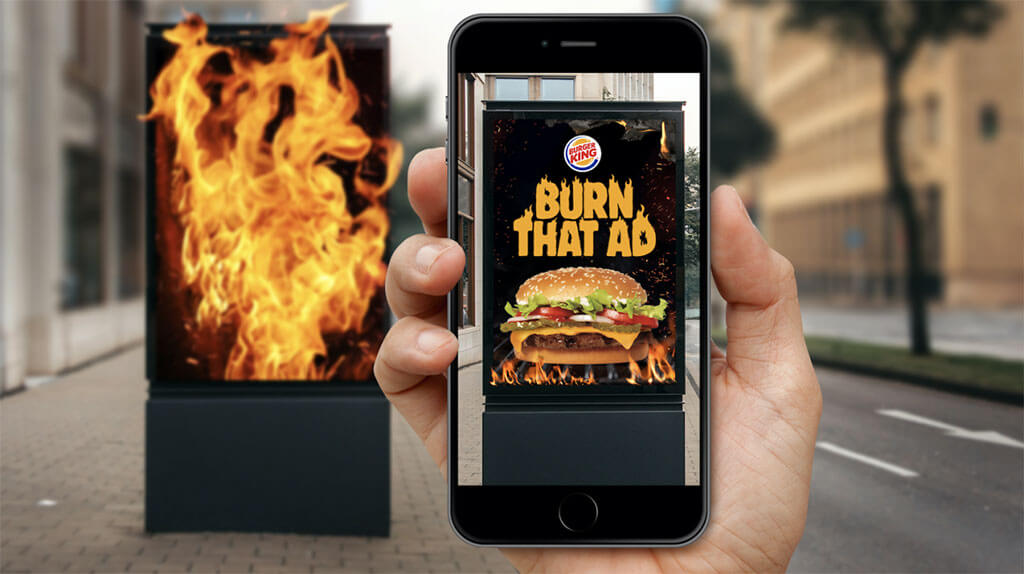 """""""Burn that Ad"""" app lets users set BK rivals' ads on fire"""