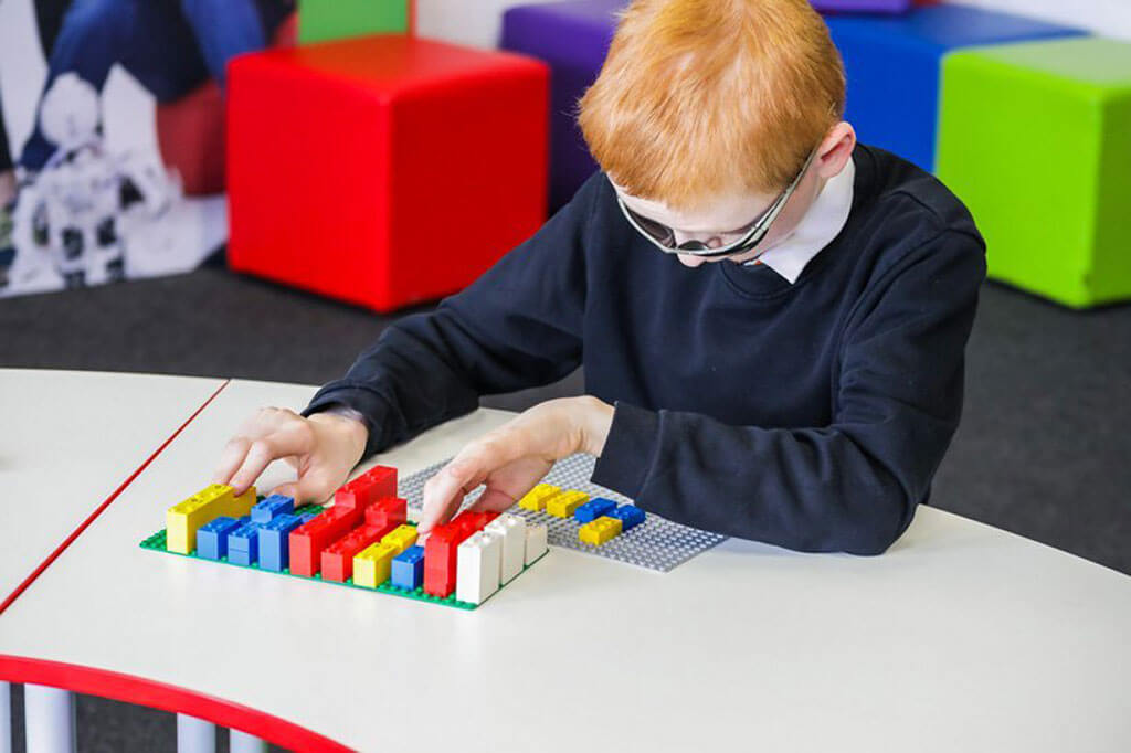 LEGO bricks for blind and visually impaired children