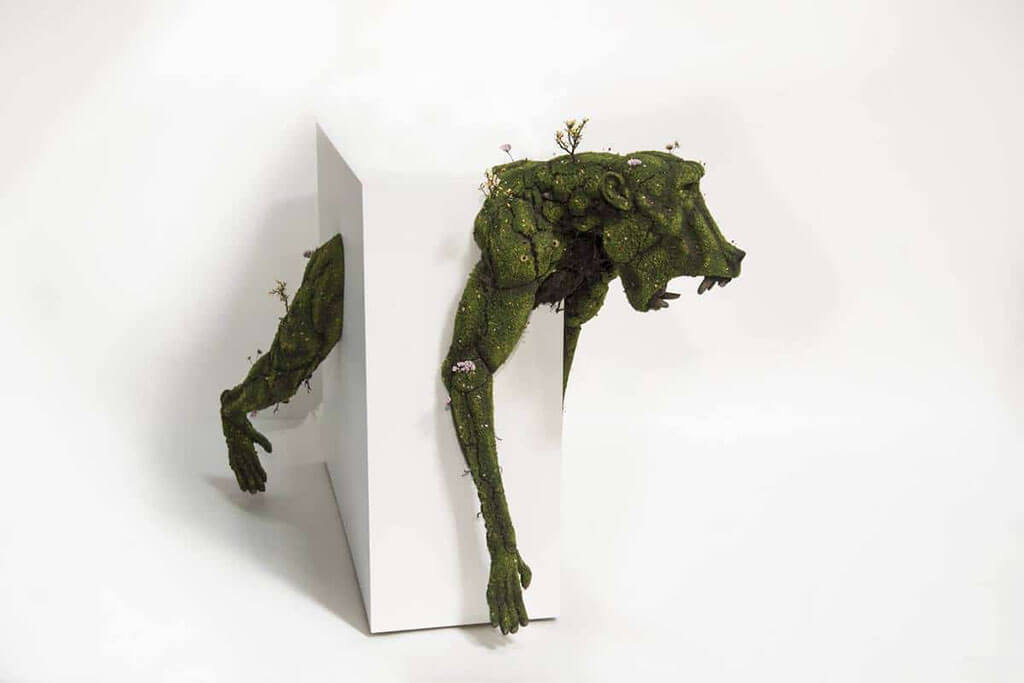 Surreal plant scultpures of animals