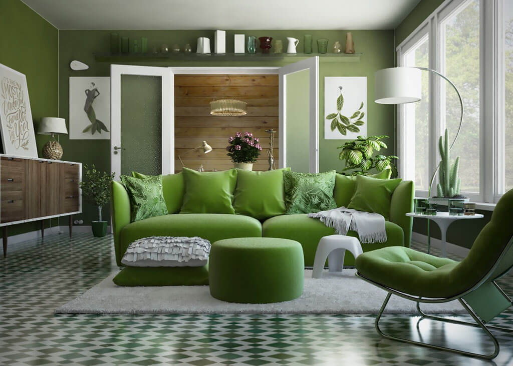 Interior design greens