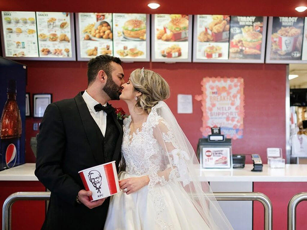 KFC chicken-themed weddings